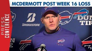 Buffalo Bills Head Coach Sean McDermott Post-Loss to Patriots