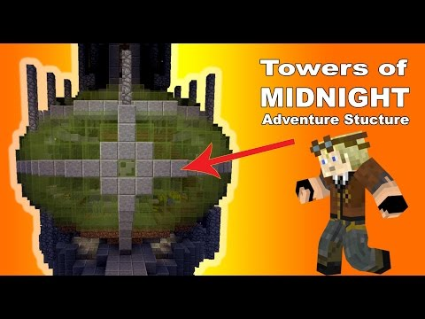 Pillars of Midnight: a Minecraft Adventure Structure.
