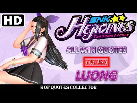 Luong - All Win Quotes (English) SNK HEROINES: Tag Team Frenzy |