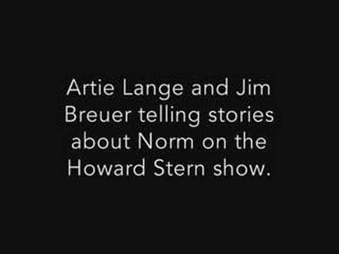 Artie Lange and Jim Breuer telling stores about Norm