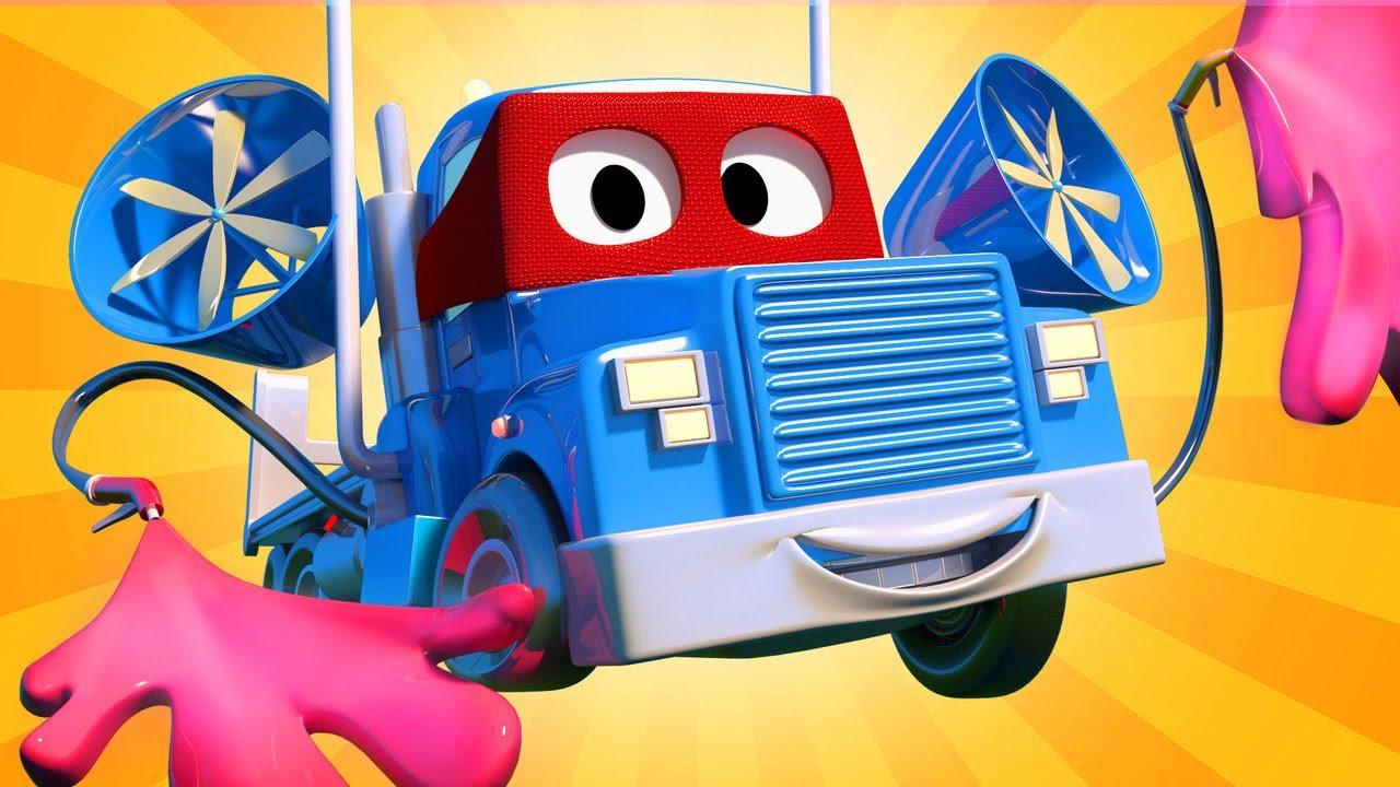Video xe tải cho trẻ em - Xe tải sơn lưu động - Thành phố xe
