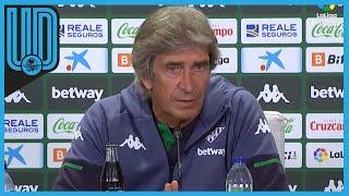 """Esto comentó el técnico del Betis, Manuel Pellegrini, luego de vencer 2-1 al Granada.  """"La entrada tanto de Rodrigo como de Diego Lainez y Tello activaron al equipo y acabamos haciendo esos 15 minutos en un muy buen nivel"""".   #Betis #LaLiga #DiegoLainez"""