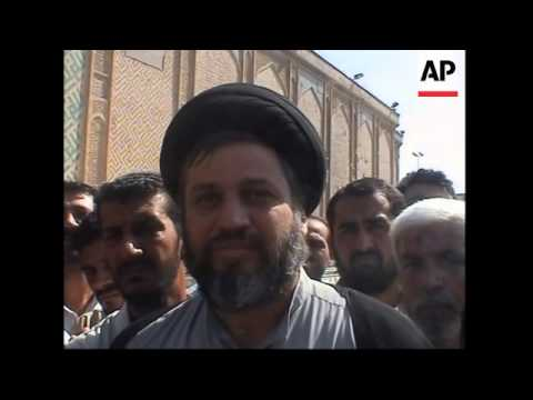 WRAP Imam Ali shrine, al-Mahdi, al-Sadr aide comments