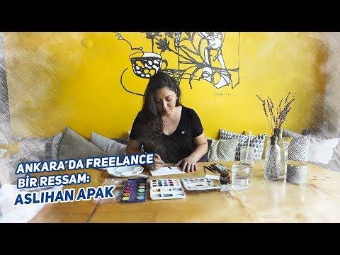 Ankara'da freelance bir ressam: Aslıhan Apak