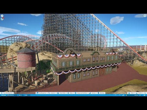 Let's Play Planet Coaster Episode 2 - Wild West Saloon & Terrain