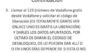 Liberar Movil Vodafone Por 10E