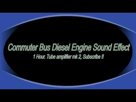 Commuter Bus Diesel Engine Sound Effect, 1 Hour