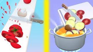 САМЫЙ ВКУСНЫЙ САЛАТ и СУП в МИРЕ в игре Perfect Slices