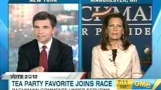 MICHELE BACHMANN ON SLAVERY AND THE MINIMUM WAGE