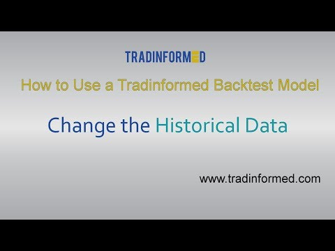 How to Change the Historical Data in a Tradinformed Backtest