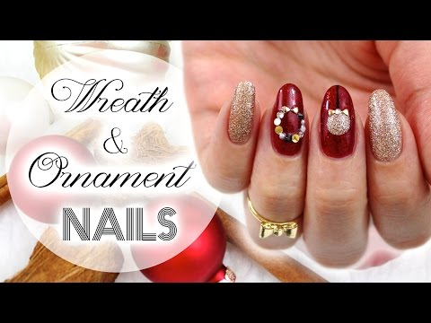 Wreath & Ornament Nails | Christmas Collab With Yire Castillo ♡