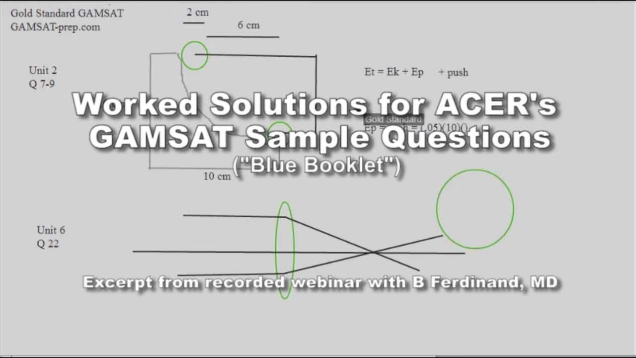 ACER GAMSAT Sample Questions Physics Unit 8 Q 27 ebook
