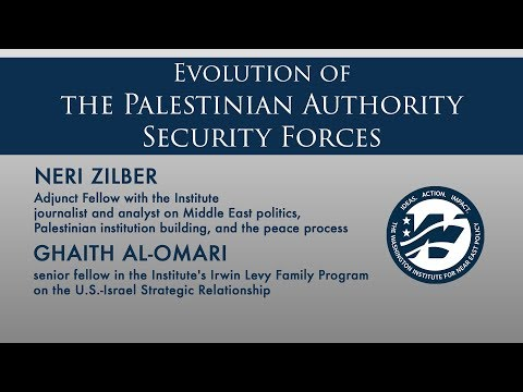Evolution of the Palestinian Authority Security Forces