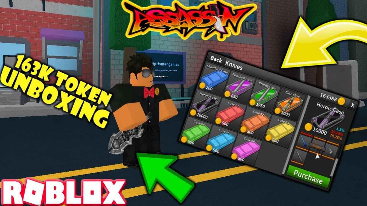 Roblox Assassin 163k Coin Unboxing New Heroic Case Crazy So - mad assassin roblox