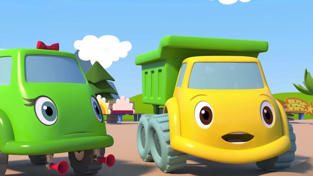 ЯМА КАНАВА - Синий трактор на детской площадке - Мультик ...