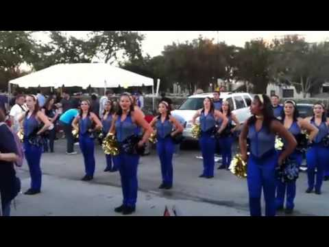 FIU Marching Band & Guard Performing Fight Song at Pre-Game