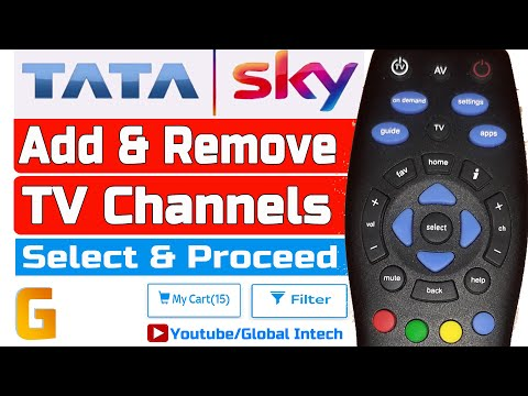 How To Add Or Remove Channels In Tata Sky | TRAI New Rules For DTH Service | Make Tata Sky Pack