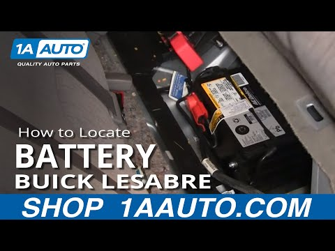 Buick T Type Parts - How To Locate and disconnect Battery Buick Lesabre Pontiac Bonneville 00-05 1AAuto.com
