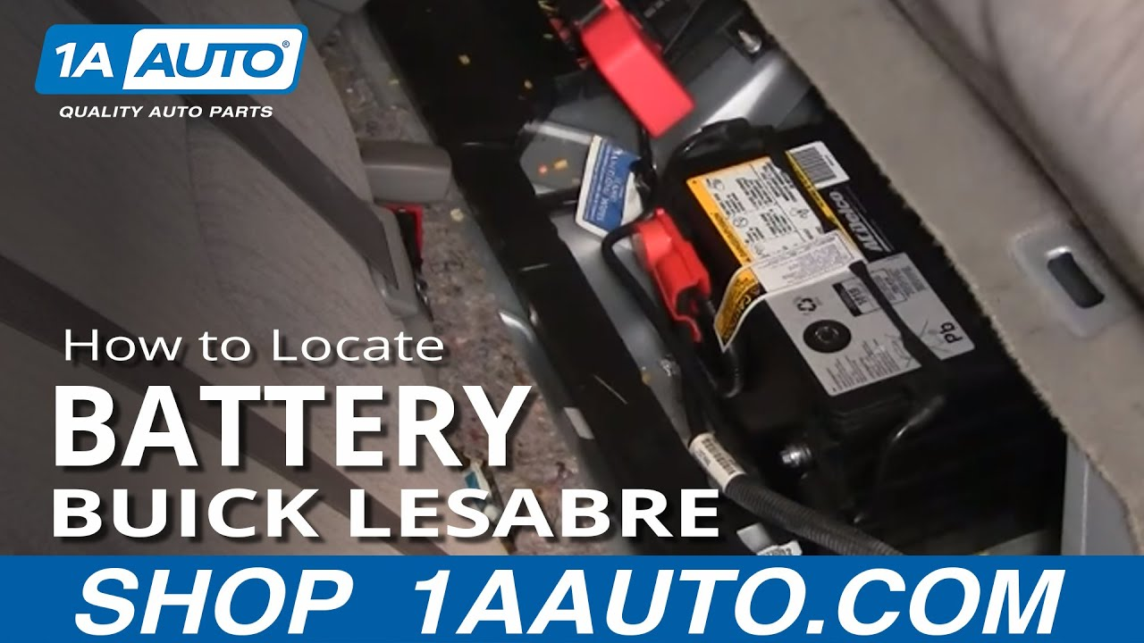 How To Locate and disconnect Battery Buick Lesabre Pontiac ...