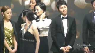SONG JOONG KI MOON CHAE WON Cute Moment @ 2012 KBS Drama Awards Part.1 thumbnail