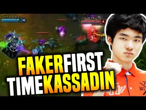 Faker First Game With Kassadin In Professional Game - Faker