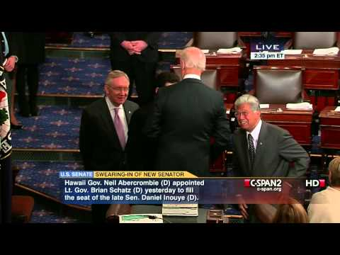 Vice President Biden Swears in Brian Schatz as Senator from Hawaii