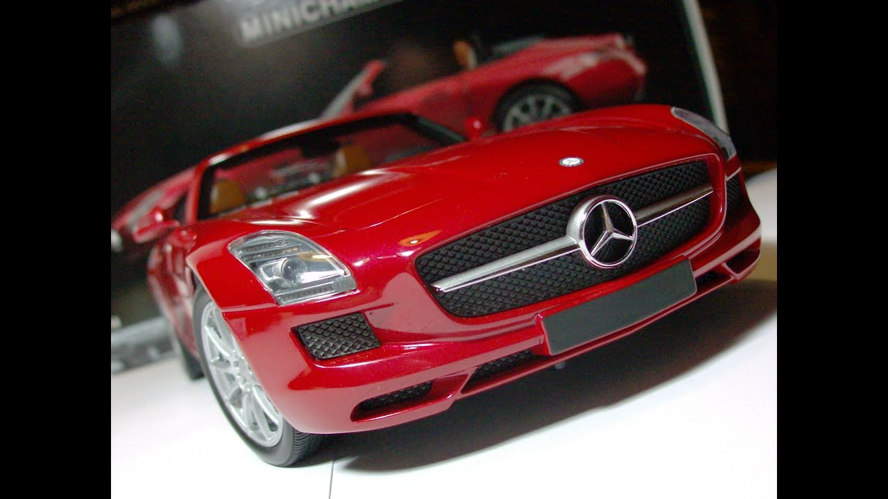 Mercedes Benz Sls Amg Review >> Mercedes-Benz SLS AMG Roadster - 2011 Minichamps 1/18 Scale Diecast Model - YouTube