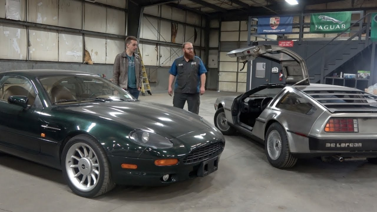 Fixing a $1500 Aston Martin part with Glue? AND THE DELOREAN LIVES!!!