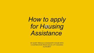How to apply for section 8 housing  (Oromo)