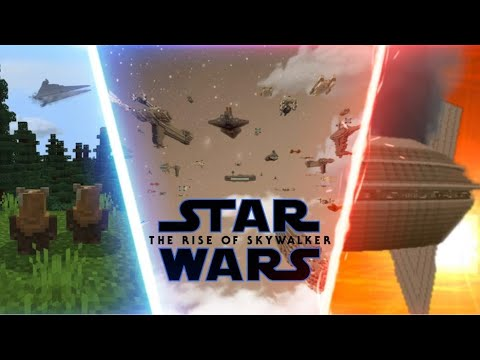 Minecraft Star Wars The War Is Over Scene Recreation The Rise Of Skywalker Youtube