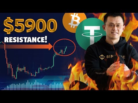 """Manipulation/""""Hacks""""/Tether! Why Is Bitcoin Still At 5900? This Is The Resistance!"""