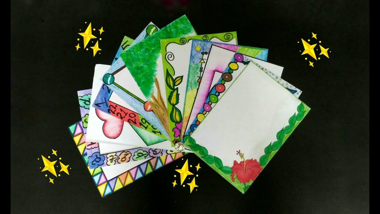 Border Designs For Decorating School Project Files Attractive Borders Ideas