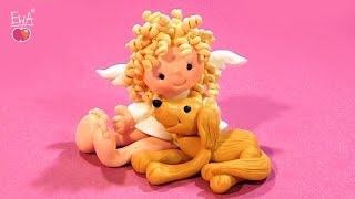 Little Angel with Friend  - Aniołek z Przyjacielem by Let's clay with Ewa