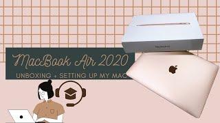 2020 MacBook Air: Unboxing + Setting Up my Mac