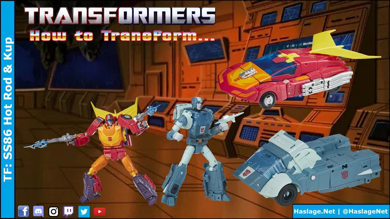 Transformers: Studio Series '86 Hot Rod & Kup Review by HNE Games