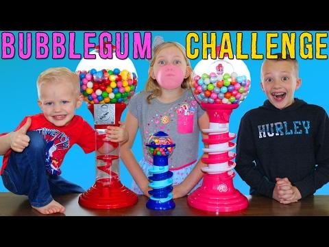 Bubble Gum Race || Giant & Tiny Dubble Bubble Gumball Machines