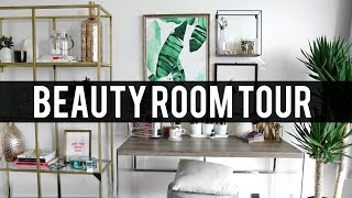 BEAUTY ROOM TOUR 2017 | Pinterest Inspired Decor | Jamie Paige