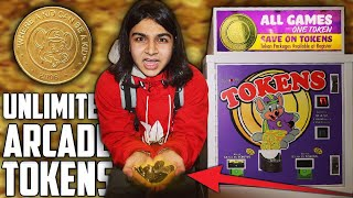 HOW TO GET FREE ARCADE TOKENS AT CHUCK E CHEESE! | FREE TOKENS | UNLIMITED ARCADE TOKENS LIFE HACK!
