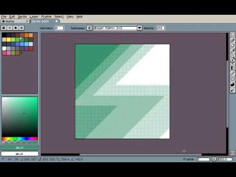 Testing new Gradient tool on Aseprite v1 2-beta10