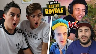REACCIONANDO A NINJA vs LOLITO FDEZ vs MYTH [FORTNITE]