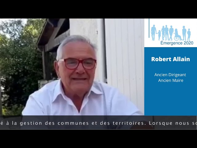 Elections municipales Saint-Georges de Didonne 2020 – Robert ALLAIN – Réalisation Emergence 2020.