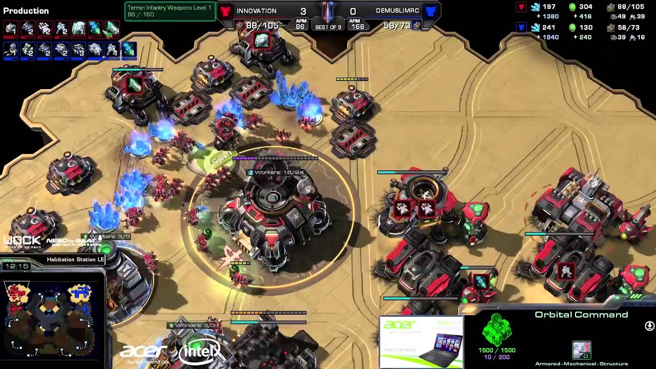 Innovation vs. DeMuslim (ATC) - Acer vs. EG - Game 4 - StarCraft 2