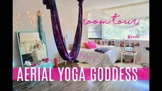 Pinterest Bedroom | Aerial Yoga at Home | Hippie Room Tour | Tumblr