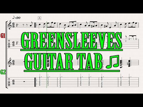 GREENSLEEVES/TRADITIONAL ENGLISH FOLK SONG/MY TAB FOR GUITAR (SONG FOR ACOUSTIC) #18