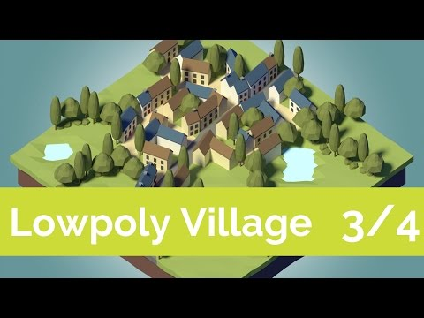 Your first LowPoly scene: composition [3/4] [Tutorial]
