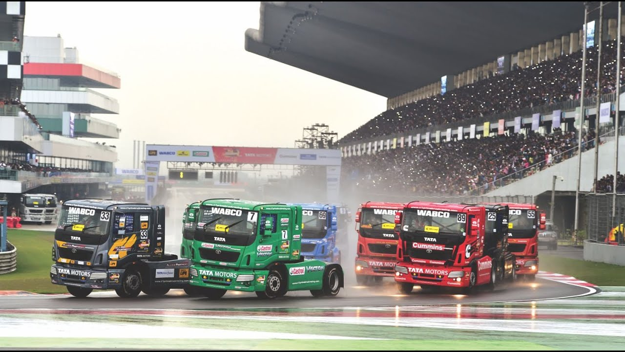 Truck Racing On F1 Track
