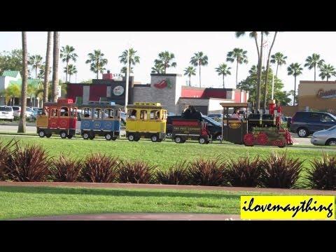Outdoor Wooden Kiddie Train Ride in Long Beach, California USA