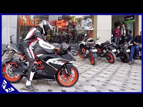 KTM RC200 Stock Exhaust Sound And Short Test Drive Full HD Video