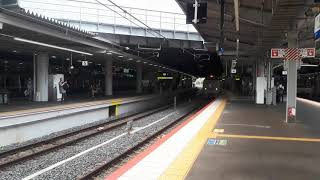 JR西日本新大阪駅で289系回送列車の発車シーン(2020年8月8日土曜日)携帯電話で撮影
