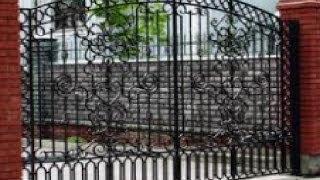 Кованые изделия. Кованые ворота(внешний вид кованых ворот смонтированых на даче., 2013-10-15T20:33:36.000Z)